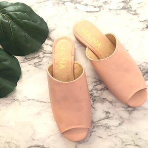 NaNa Nude Pink Leather Mules